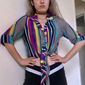 A'Gaci striped blouse
